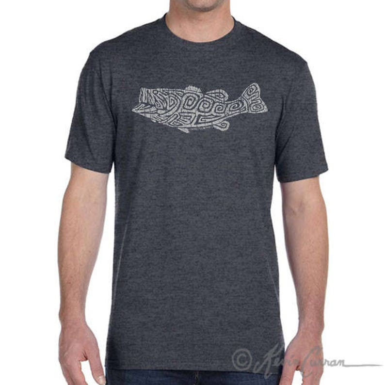 d4e0a90f5e7 Largemouth Bass Design Men s and Ladies Sizes Available