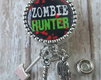 fun for Halloween Costume of the Walking Dead Zombie Hunter Badge with Chain