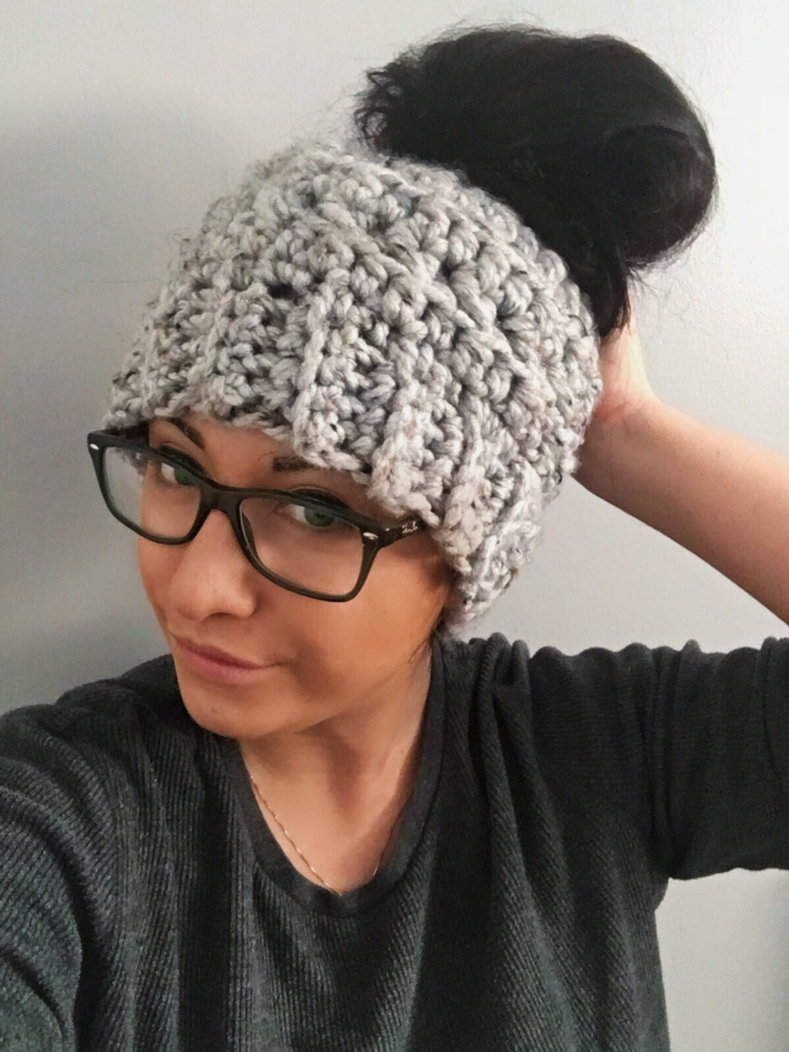 Messy bun hat crochet bun beanie winter hat man bun hat etsy jpg 1125x1500 Men  bun 7844d899a040