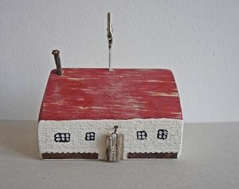 Dekoratives Holzhaus Haus Scheune Aus Treibholz Dekoration Unikat  Bildhalter 9 Cm