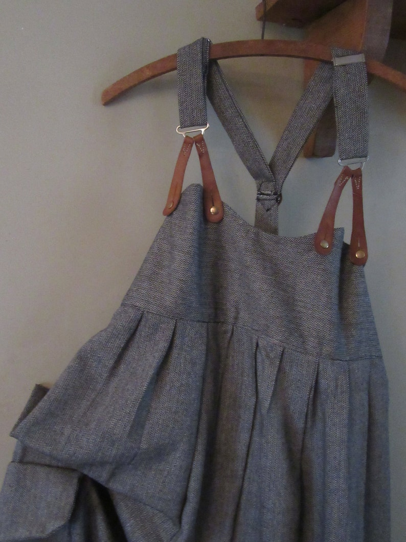36f3df880bd7 Lagenlook Balloon shaped dungarees .overalls in greywool