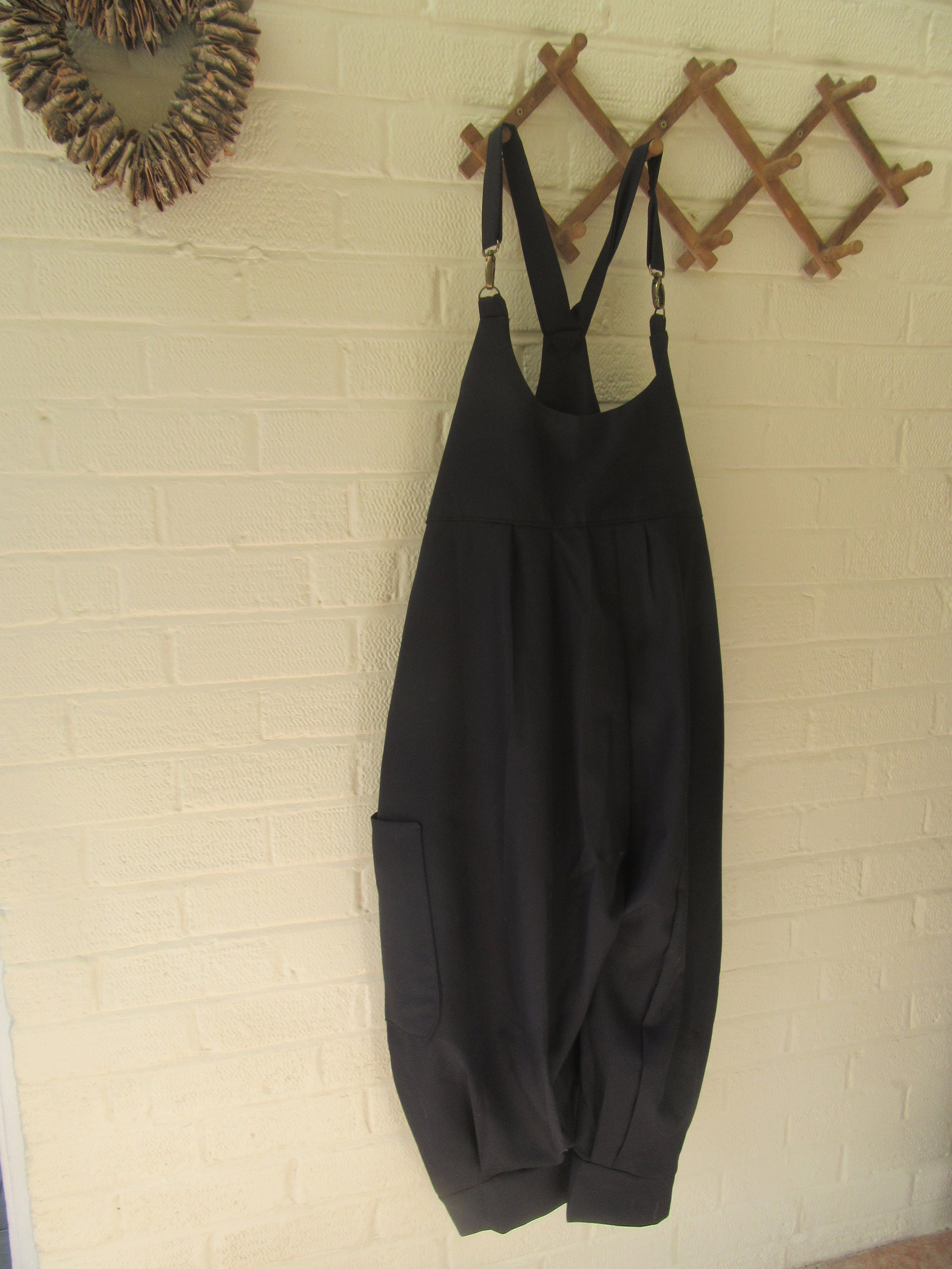 443c426d152a SALE Lagenlook quirky balloon shaped dungareesoverallscuffs