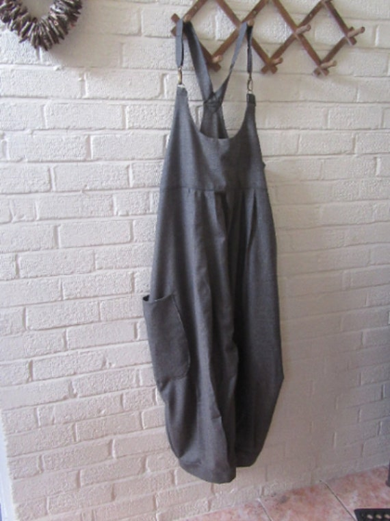 8ab91cc3c70c Lagenlook quirky balloon shaped dungareesoverallscuffs