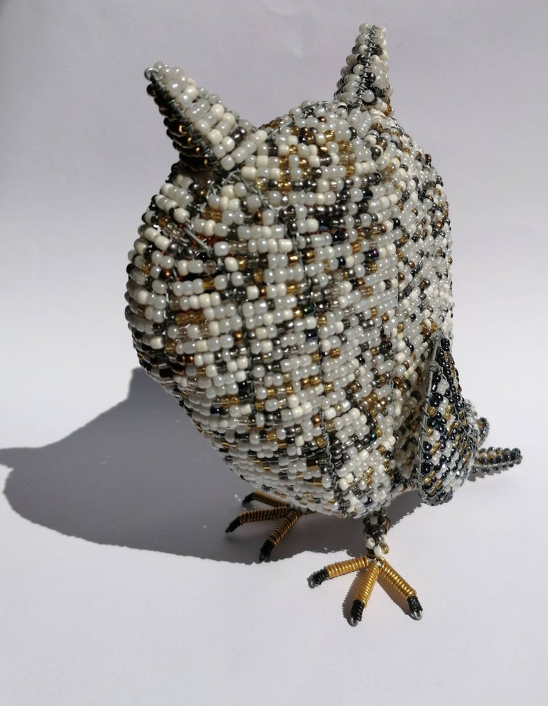 Bead and wire owl Homedecor