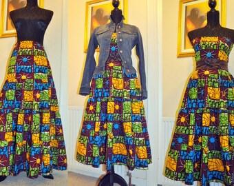 African Print Dress/skirt combo