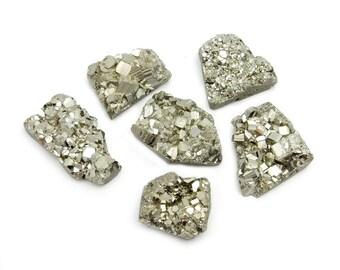 Pyrite Mixed Shape Cabochon - Chakra Reiki Jewelry Supply - (RK7B18-02)