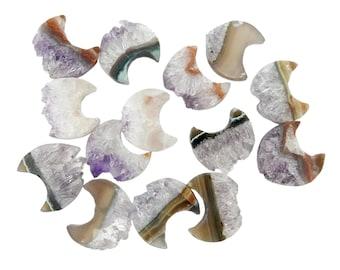 Amethyst Moon Crescent - Petite Amethyst Slice Crescent - Wonder of Nature - Decor (BPS1-B3-08)