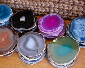 Agate Coasters - Agate Slices Coaster - Size #3 - C Grade - Create Your Own Set (AGBS)