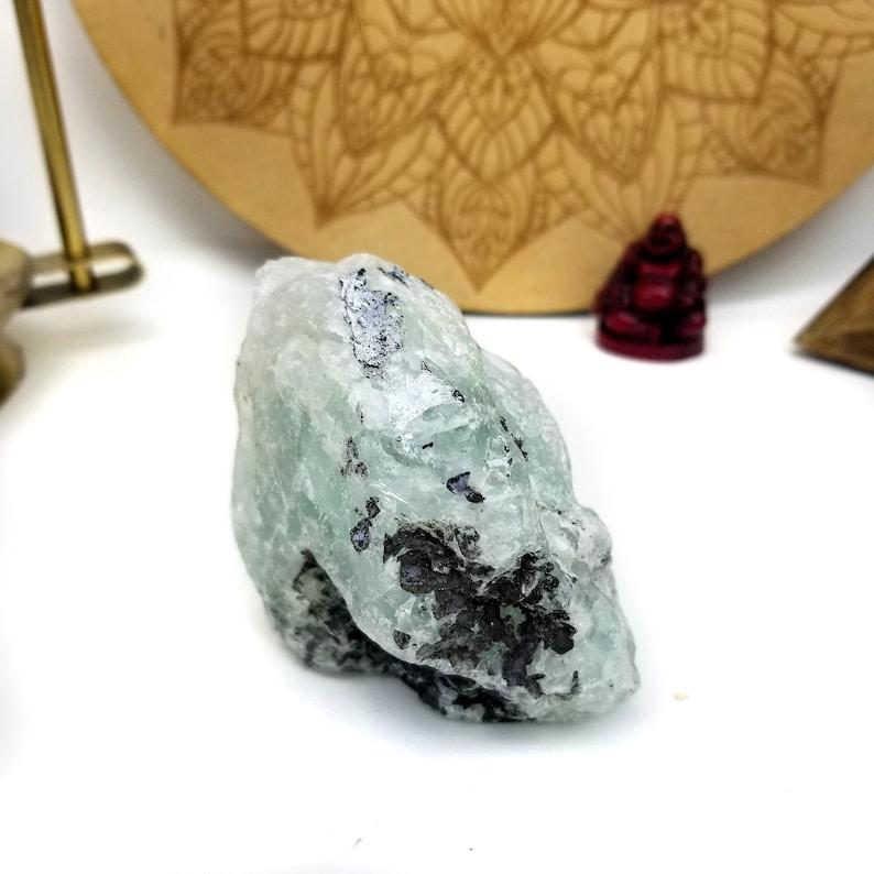 Fluorite Stone Chunk Semi-polished WRHS2-S3-45 OOAK