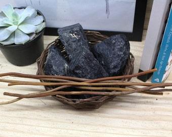 Black Hammered Tourmaline - Reiki - Chakra - Medium Size - Metaphysical -Brazilian Stones RK64B13