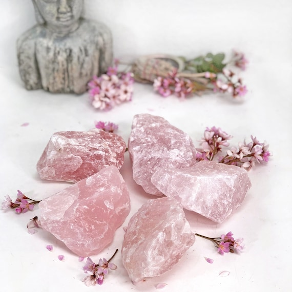 RK404-01 Rough Pink Brazilian Crystals and Stones Rose Quartz Chunk Crystal Collection from 12-2 lbs EXTRA LARGE 1 Piece