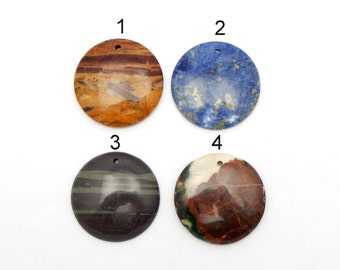 Beautiful Round Assorted Cabochon Top Drilled - You Choose (RK1B4-11)