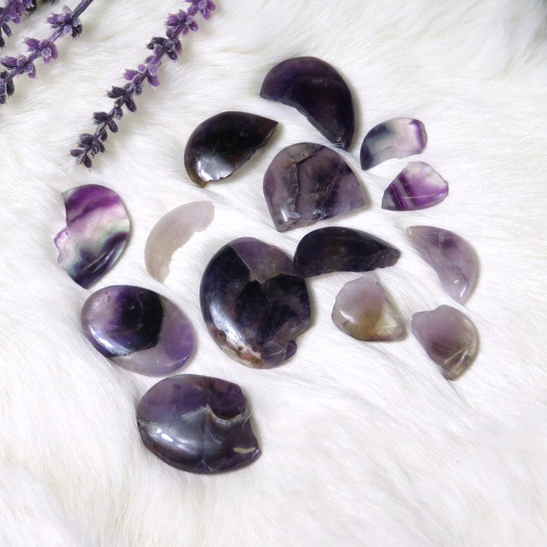 RK162B3-07 Full Bag You Get All Sold AS Is for crafts Amethyst Thumb Stones Decor