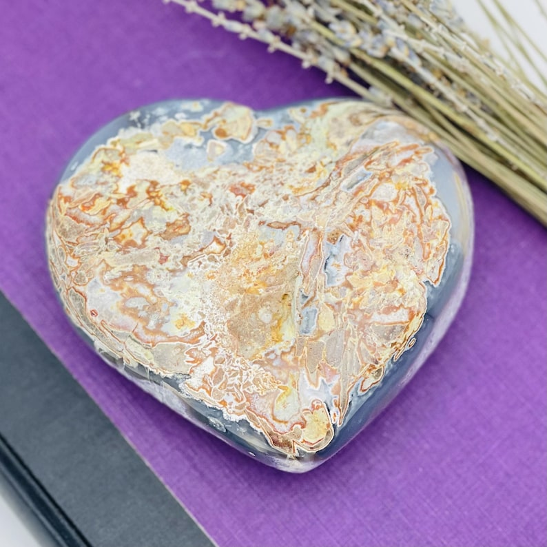 Amethyst Druzy Heart Shaped Crystal Formation OOAK WRHS2-S10-BOX3-14