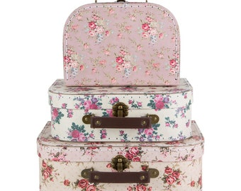 Sass & belle Vintage rose Set of 3 Suitcases