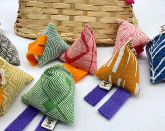Cat Toy  Kit Nip Tumble filled with Organic Herbal Blend (B Happy) and Buckwheat Husks  made by Simply B Vermont
