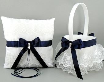 Burgundy Wedding Bridal Flower Girl Basket Ring Bearer Etsy