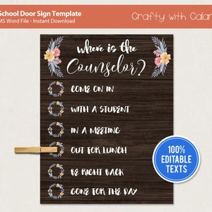 Personalized door sign for school enrollment
