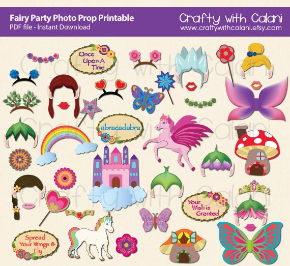 35 Pilot Party Props Airplane Party Diy Printable Photo Booth: Fairy Party Photo Booth Prop Printable Fairy Party Photo