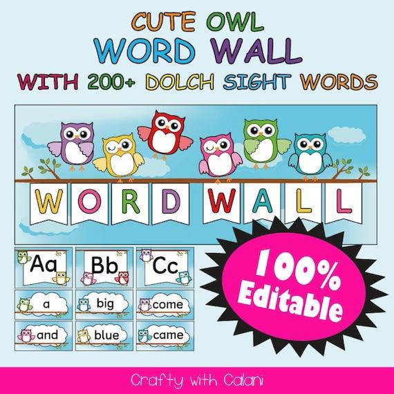 OWL SCHOOL TEACHER WALL CLOCK PERSONALIZED GIFT WALL DECOR TEAL BLUE CLASSROOM