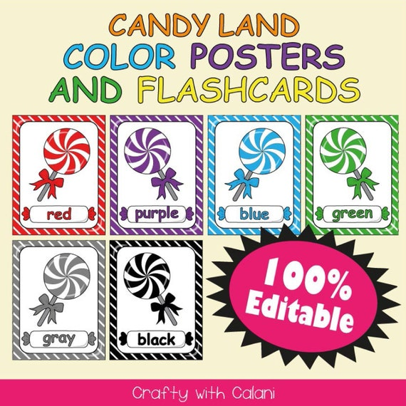Color Poster Classroom Decoration Candy Theme Classroom Classroom Color Poster Template Candy Color Poster Classroom Poster Printable