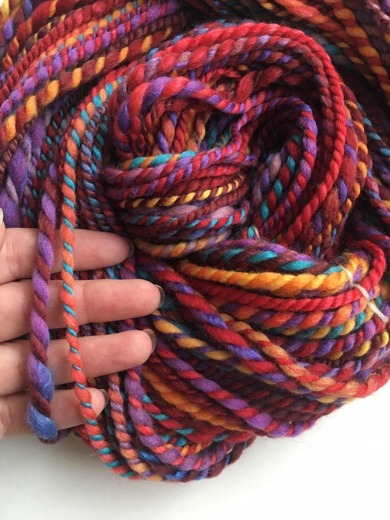 textured art yarn speckled bulky homespun yarn gently thick /& thin yarn Super bulky handspun yarn chain plied yarn weaving supply