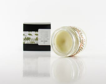 Cleansing Face Balm : face polish, salve , all natural, oil cleansing method, raw honey, moisturizer, non comedogenic , acne