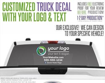 Custom Logo Decal with Custom Name, Website, Text