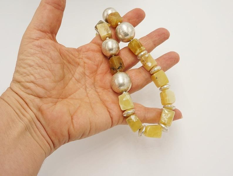 with  yellow  real stone Boho short gemstone necklace