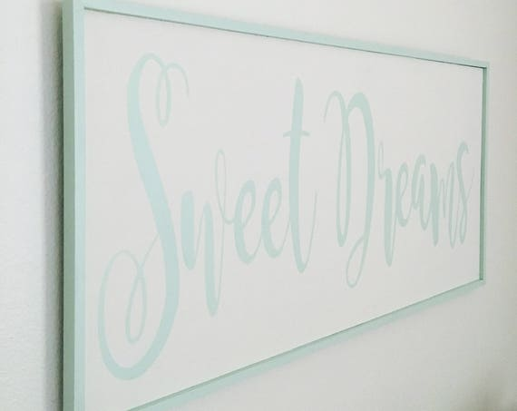 Bedroom Sign -Sweet Dreams Handmade Wood Sign