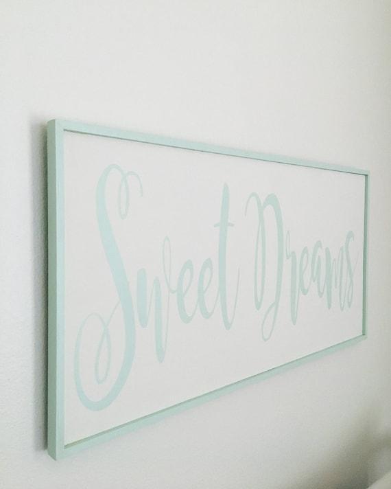 Bedroom Sign -Sweet Dreams Handmade Wood Sign