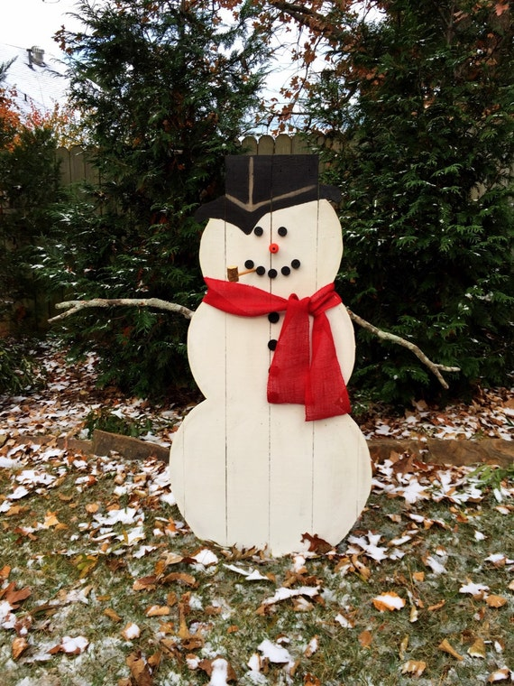 Wooden Snowman - Outdoor or Indoor Snowman