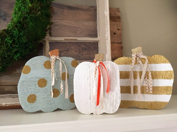 Wooden Pumpkin Minis - Set of 3