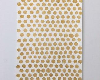 Abstract Gold Dot Original Painting -The Golden Spot