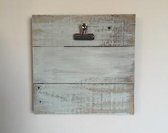 """11""""x11"""" Wooden Clipboard Frame in Mint"""