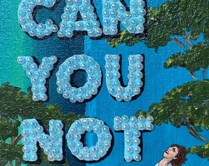 Can You Not Rhinestone Painting by Willabird Designs Artist Amber Petersen