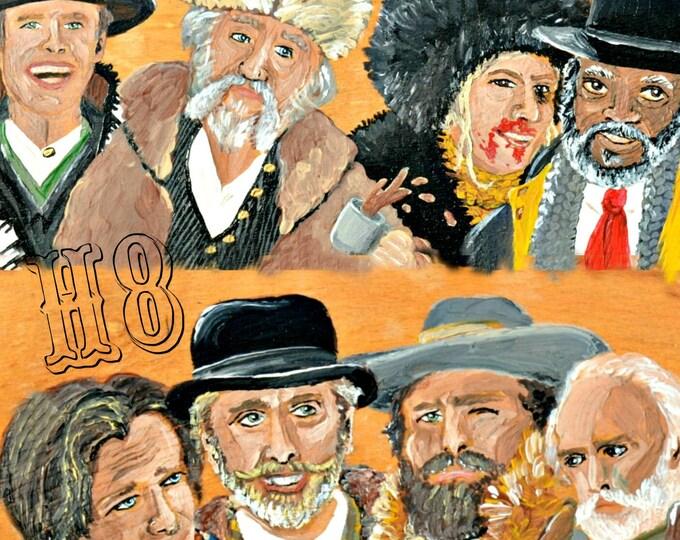 Hateful Eight Tarantino Painting by Willabird Designs Artist Amber Petersen