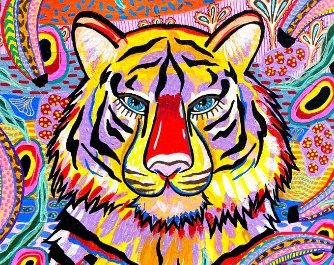 Jungalow Tiger Painting by Willabird Designs Artist Amber Petersen