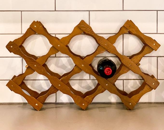 Accordion Wine Rack found by Willabird Designs Vintage Finds