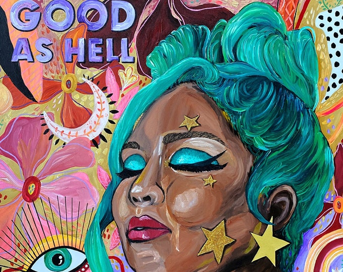 Lizzo LARGE Painting by Willabird Designs Artist Amber Petersen