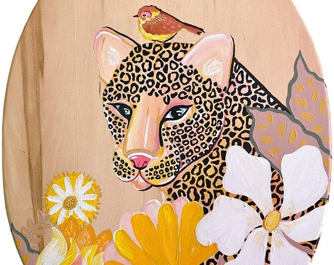 Leopard Painting Bohemian Jungalow Décor by Willabird Finds & Willabird Designs Artist Amber Petersen
