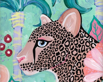 Jungalow Cheetah Painting by Willabird Designs Artist Amber Petersen