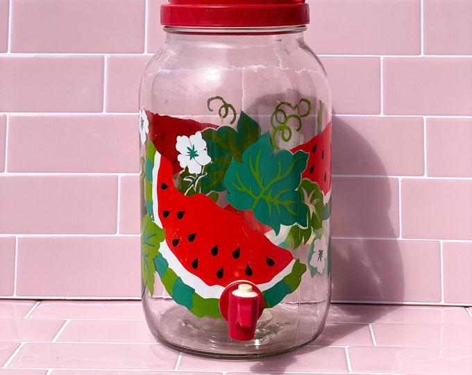 Vintage Watermelon Fruit Punch Glass Jug found by Willabird Designs Vintage Finds