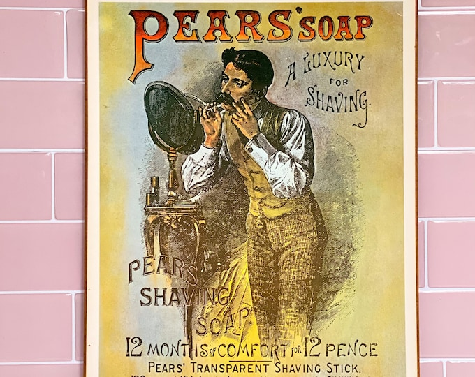 1975 Vintage Pears Soap Poster & Tin found by Willabird Designs Vintage Finds