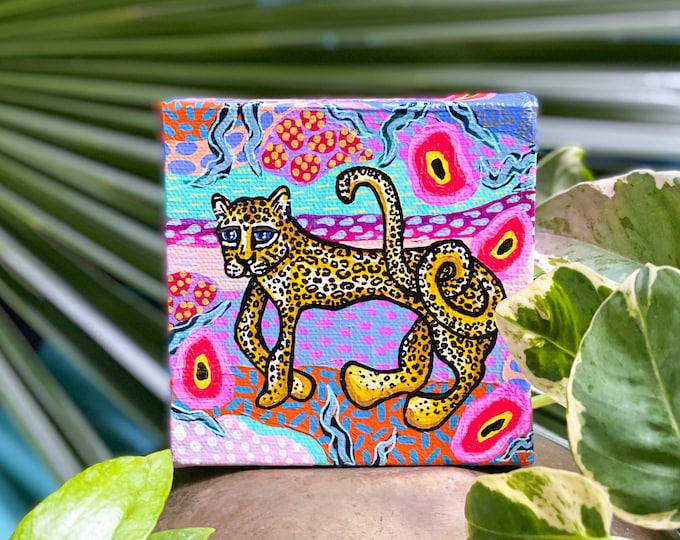 Jungalow Cat Paintings by Willabird Designs Artist Amber Petersen