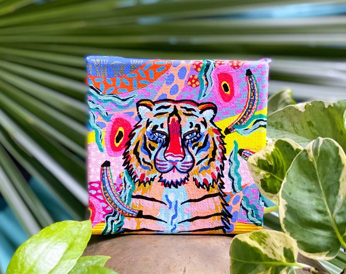 Jungalow Tiger Paintings by Willabird Designs Artist Amber Petersen