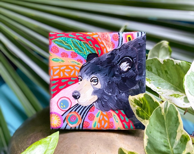 Black Bear PNW Paintings by Willabird Designs Artist Amber Petersen