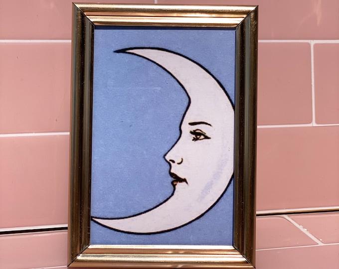 Vintage Moon Framed Prints found by Willabird Designs Vintage Finds
