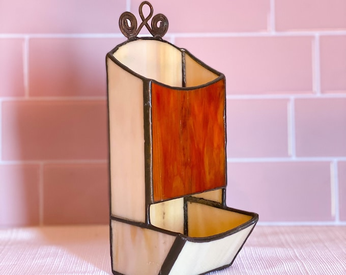 Vintage Stained Glass Wall Hang found by Willabird Designs Vintage Finds