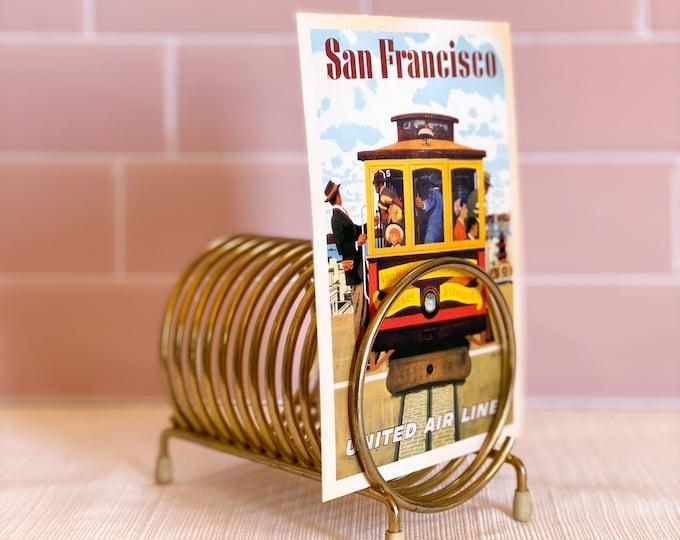Brass Mail Holder Spring Decor found by Willabird Designs Vintage Finds